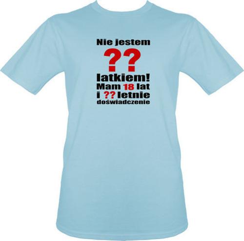 T-shirt Nie jestem latkiem...