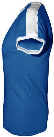 t-shirt FIT dowolny tekst- Niebieski