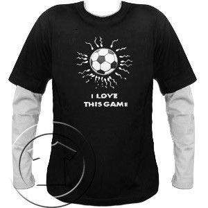 Bluza męska przedłużony rękaw  - I Love this Game-Football