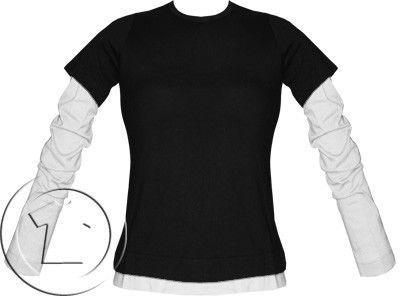 Bluza damska przedłużony rękaw