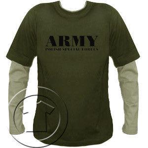 Bluza męska przedłużony rękaw Army