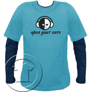 Bluza męska przedłużony rękaw- OPEN YOUR EARS