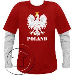 Bluza męska Orzeł z nadrukiem  przedłużony rękaw Poland