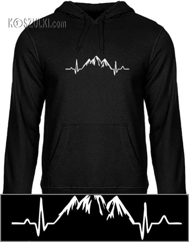 Bluza z kapturem EKG góry
