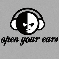 Bluza z kapturem  Open your ears SZARA