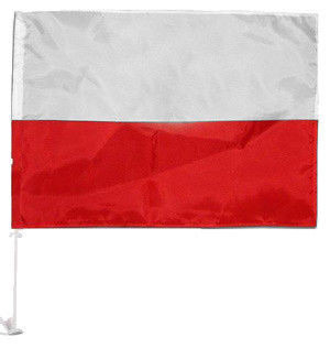 Flaga Polska Samochodowa z masztem