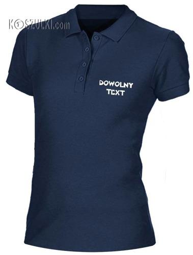 Koszulka Polo damska  z własnym nadrukiem