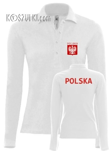 Koszulka Polo dlugi rękaw- Damska- POLSKA