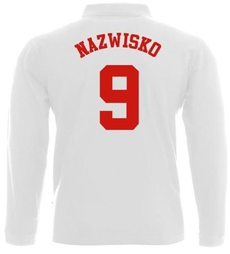 Koszulka Polo długi rękaw- Dziecko- Nazwisko i numer
