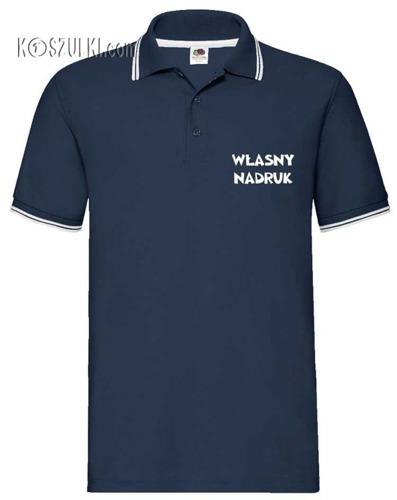 Koszulka Polo z lamówką z własnym nadrukiem