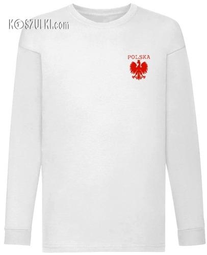 Koszulka dla dziecka z długim rękawem orzełek + NAZWISKO i NUMER