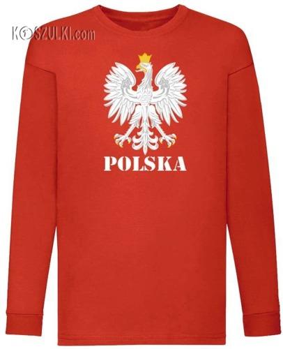 Koszulka dla dziecka z długim rękawem Orzeł Polska