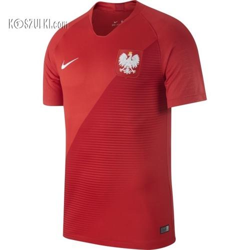 Oryginalna Koszulka Reprezentacji Polski Nike Mś 2018  Away Stadium Czerwona