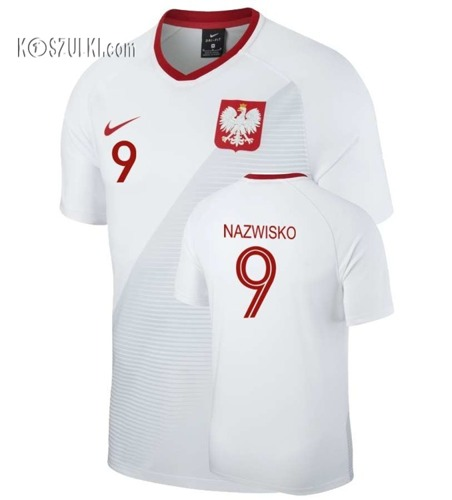 Koszulka Reprezentacji Polski Nike Oryginalna  Mś 2018 Home Breathe Top Biała  Nazwisko i numer