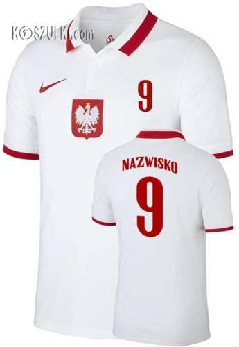 Oryginalna Koszulka Reprezentacji Polski Nike  Poland 2020/2021 Breathe Stadium Home Jersey Biała Nazwisko i numer