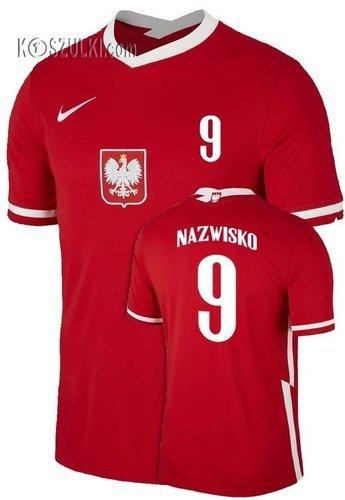 Oryginalna Koszulka Reprezentacji Polski Nike  Poland 2020/2021 Breathe Stadium Home Jersey czerwona Nazwisko i numer