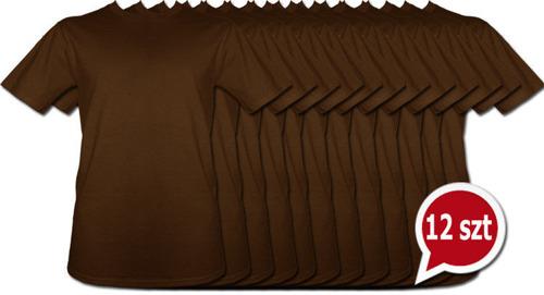 Pakiet 12 sztuk T-Shirt- Brązowy