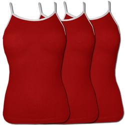 Pakiet 3 sztuk Top damski Czerwony Ramiączka