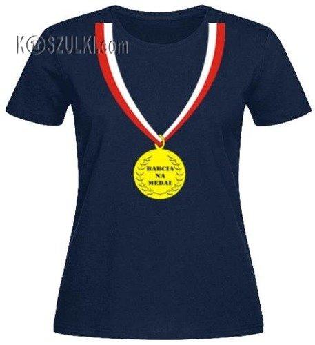 T-Shirt DAMSKI Babcia na Medal