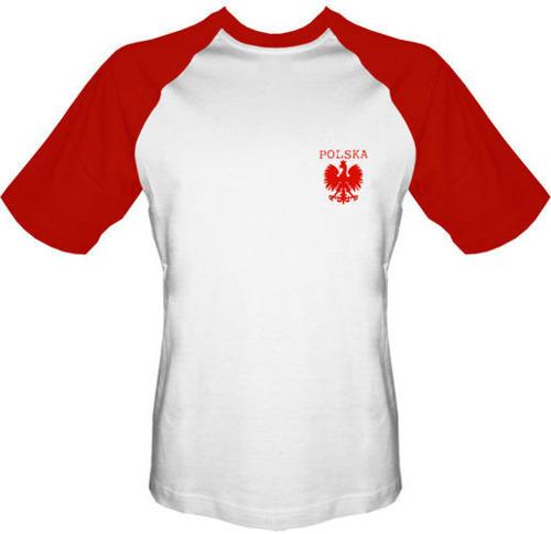 T-shirt BASEBALL TB007 Polska mały Orzeł Biały