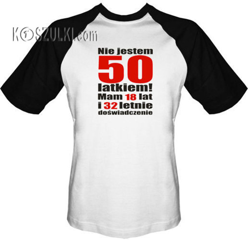T-shirt Baseball Nie jestem 50 latkiem