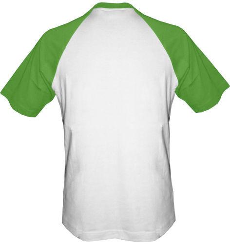 T-shirt Baseball biało-zielony