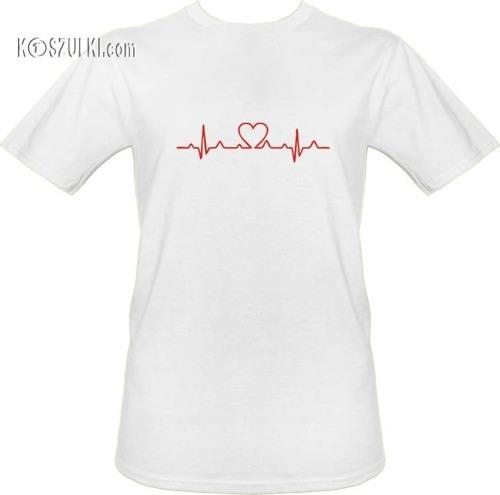 T-shirt EKG serce