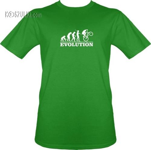 T-shirt Ewolucja Rower