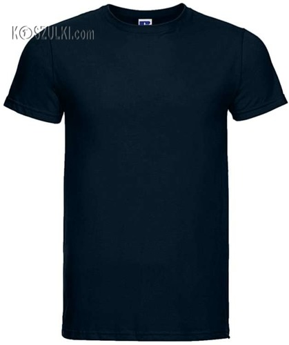 T-shirt slim Granatowy