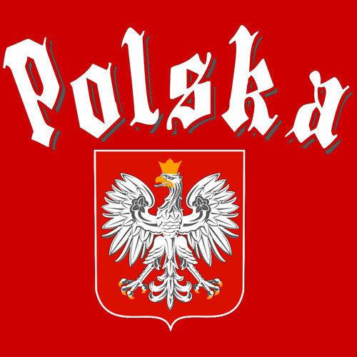 T-shirt v-Neck TV048 Polska Gotyk Czerwony