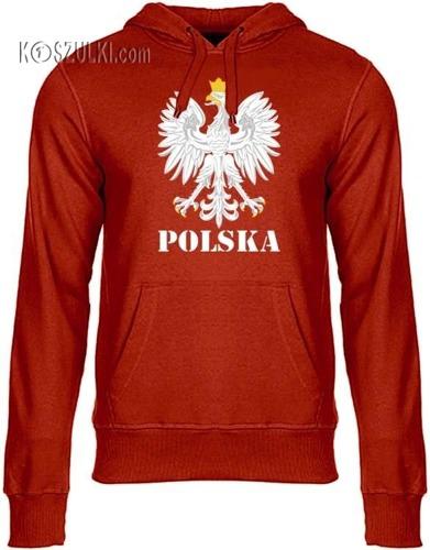 Bluza z kapturem Orzeł– Polska,czerwona
