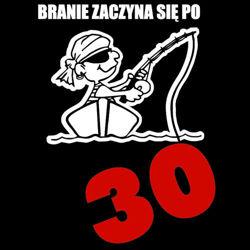 koszulka damska Branie Zaczyna się Po 30- CZARNA