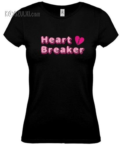 koszulka damska Heart Breaker- CZARNA