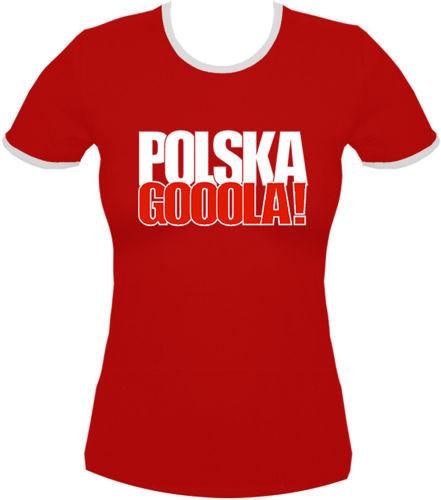 koszulka damska Kd072 Polska Gooola! Czerwona