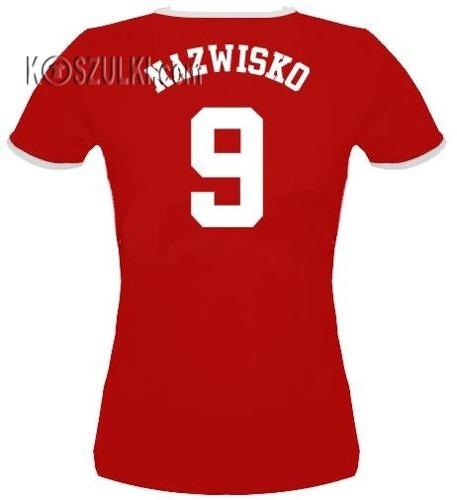 koszulka damska Polska -własne nazwisko i numer