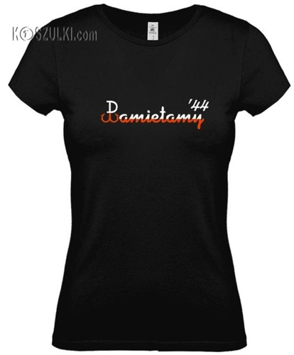 koszulka damska Pamiętamy 44- CZARNA