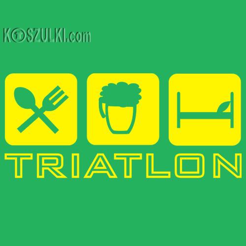 koszulka damska Triatlon Zielona