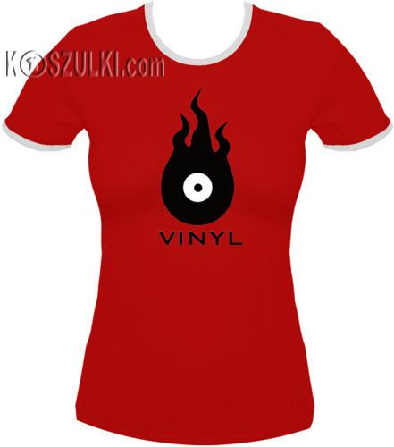 koszulka damska Vinyl- CZERWONA