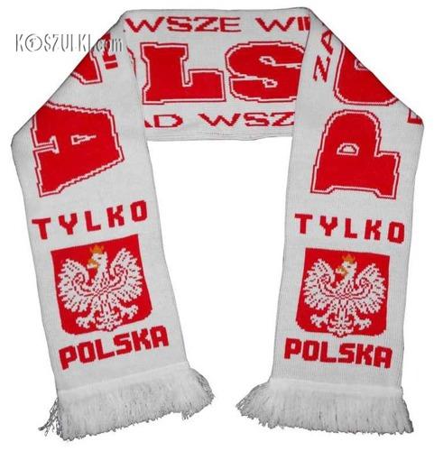 szalik Polska dziany Biały Ponad wszystko
