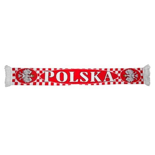 szalik Polska dziany Szachownica