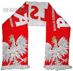szalik Polska kibica reprezentacji tkany Biało-czerwoni