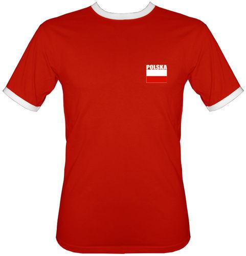 t-shirt 2K Siatkówka Polska Nazwisko i numer czerwona