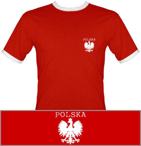 t-shirt 2K008 Polska mały Orzeł Czerwony