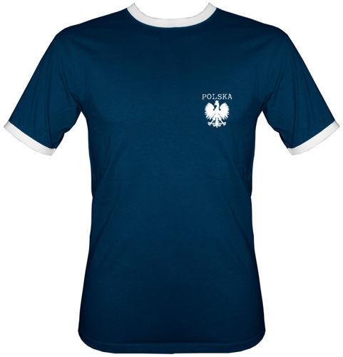 t-shirt 2K011 Polska mały Orzeł Granatowy