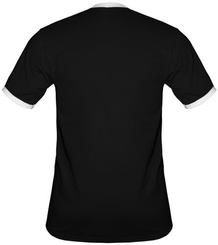 t-shirt 2K054 Polska napis Flaga Czarny