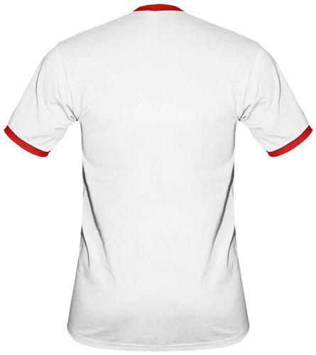 t-shirt 2K065 napis Polska Biały