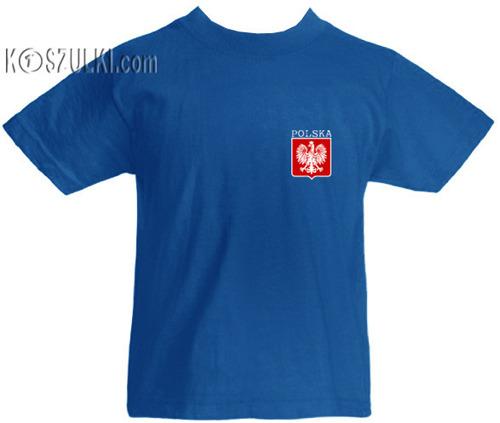 T-shirt dziecięcy Polska małe godło