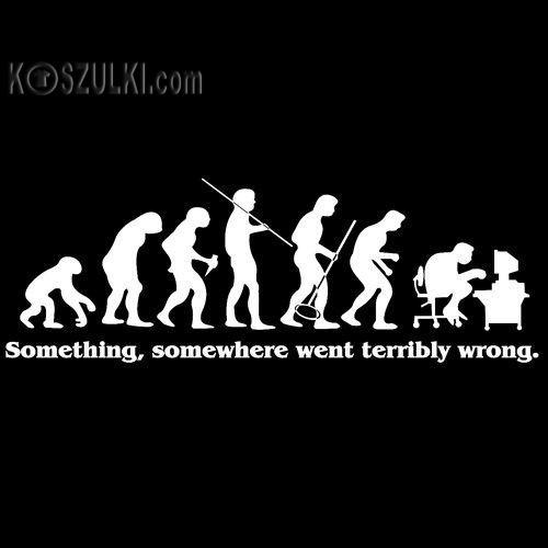 t-shirt Ewolucja
