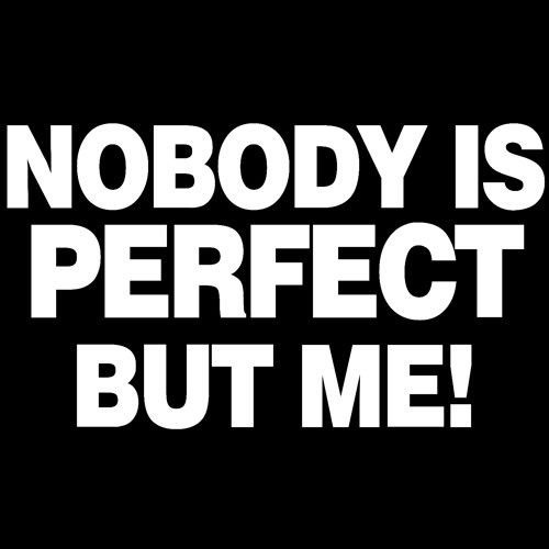 t-shirt Nobody is Perfect but me