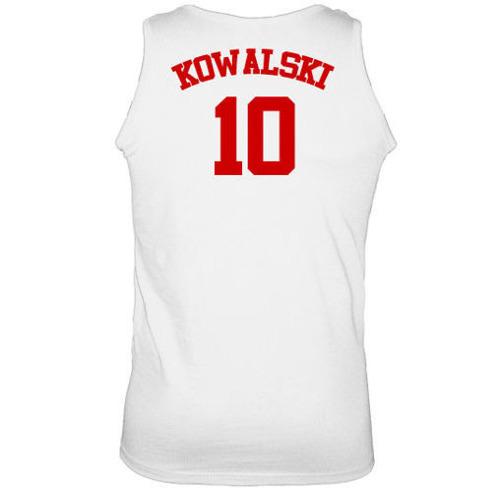 t-shirt Ramiączka Polska + Własne Nazwisko Biały